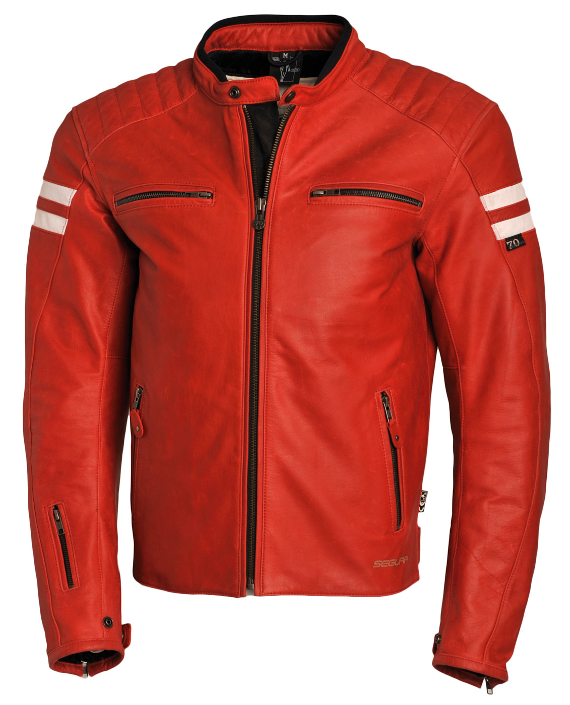 Photo   Segura Blouson Retro rouge blanc, tailles S-4XL, 399,90 €. 7cbf322762be