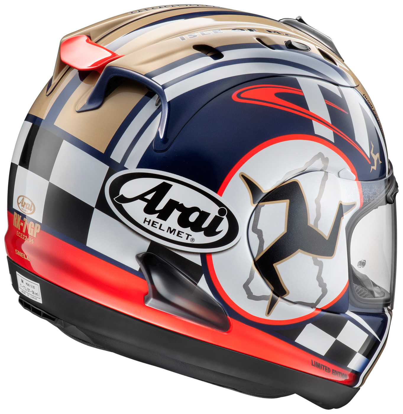 casque arai rx 7 gp isle of man tt 2015 edition agora moto. Black Bedroom Furniture Sets. Home Design Ideas