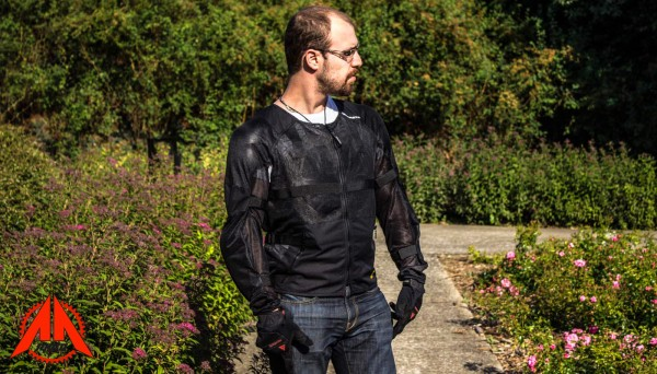 Essai gilet Spidi Airtech Armor, dorsale Warrior Evo Inside et protection Thorax Warrior