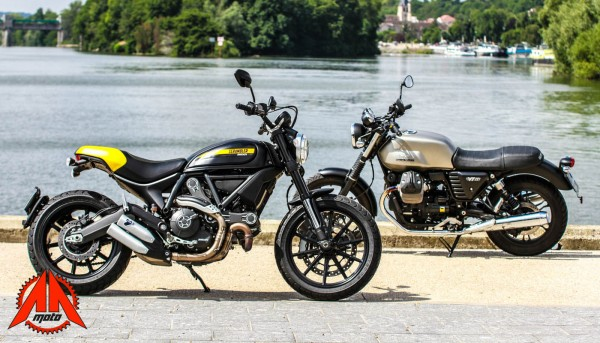 Face à face : Ducati Scrambler Full Throttle VS Moto Guzzi V7 II Stone